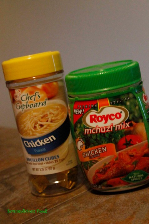 Chicken cubes and  Royco