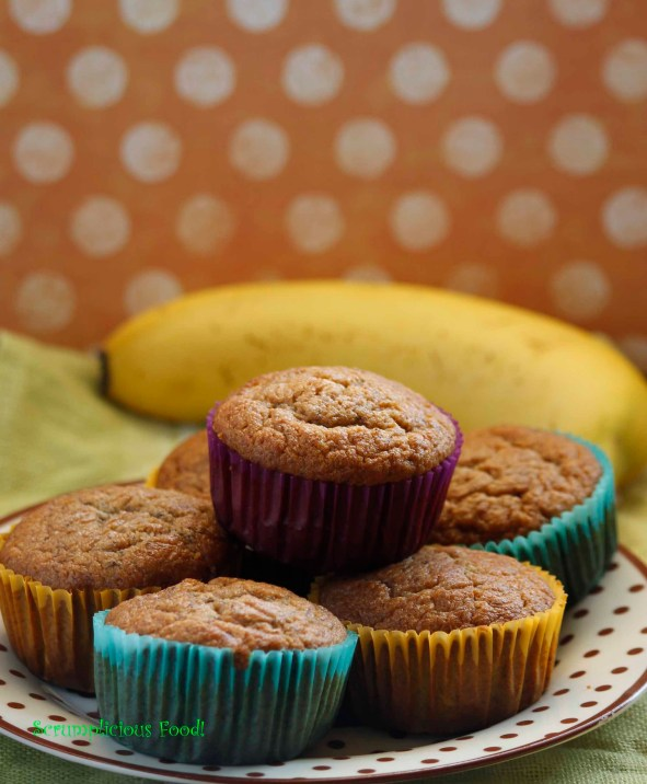 Coconut-chocolate-banana muffins